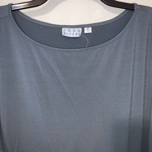 Joan Rivers Tops - Joan Rivers gray jersey knit tunic Size 2X sequins